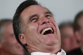 Mitt laughingly explains his latest political stance.