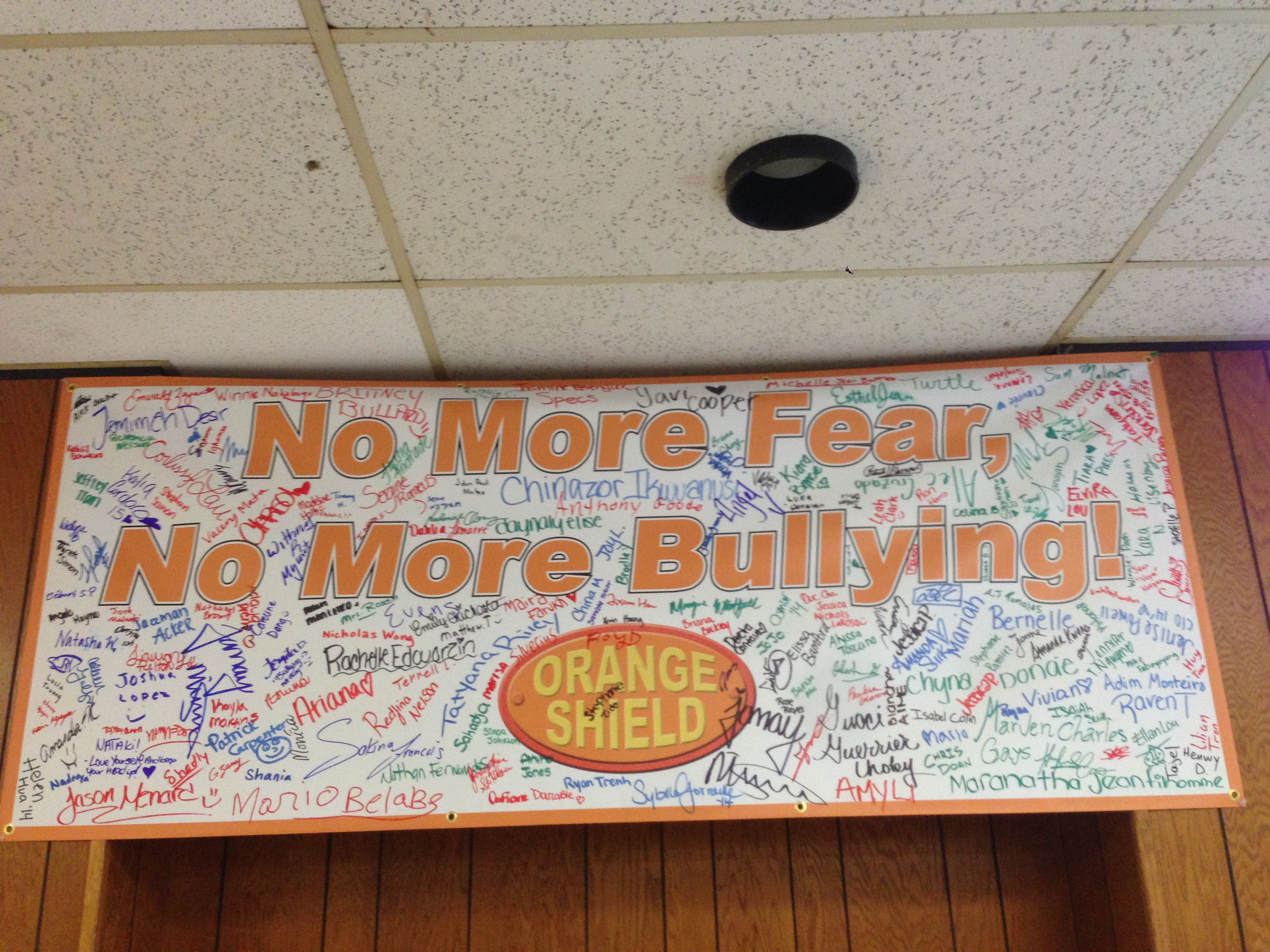 O.S.signed banner